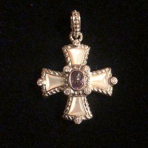 Judith Ripka Sterling Maltese Cross Enhancer